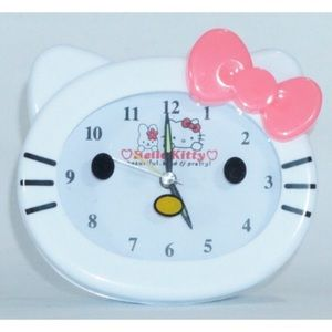 Hello Kitty Alarm Clock Kitty Face White